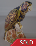Royal Crown Derby Paperweight - Bronze Winged Parrot