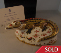 Royal Crown Derby Paperweight - Crocodile