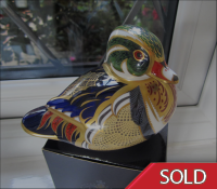 Royal Crown Derby Paperweight - Carolina Duck