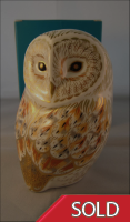 Royal Crown Derby Paperweight- Winter Owl
