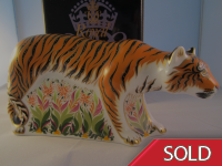 Royal Crown Derby Paperweight -  Sumatran Tigress