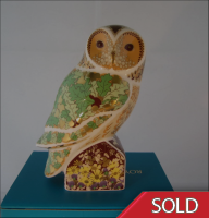 Royal Crown Derby Paperweight - Woodland Owl