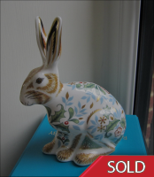 Royal Crown Derby Paperweight - Winter Hare