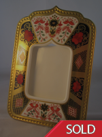 Royal Crown Derby Solid Gold Band Photograph Frame