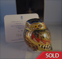Royal Crown Derby Paperweight - Little Owl Pre-Release Signature Limited Edition
