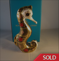 Royal Crown Derby Paperweight -Old Imari SGB Seahorse