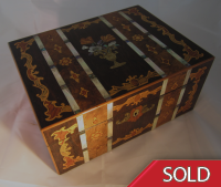 Antique Victorian Sewing Box
