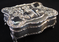 Edwardian Silver Trinket/Jewellery Box Chester 1908