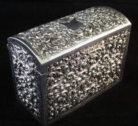 Edwardian Silver Playing Card Box Birmingham 1909