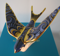 Royal Crown Derby Paperweight - Swallow
