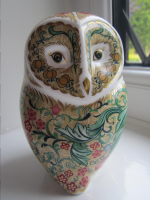 Royal Crown Derby Paperweight - Parchment Owl