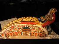 Royal Crown Derby Paperweight - Golden Pheasant Gold Signature Edition