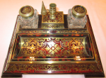 Antique Regency Rosewood and Boulle Ink Stand....Rare