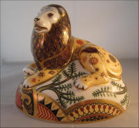 Royal Crown Derby Paperweight - Nemean  Lion Rare