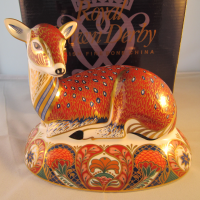 Royal Crown Derby Paperweight - Deer - rare