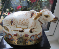 Royal Crown Derby Paperweight - Water Buffalo