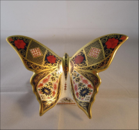 Royal Crown Derby Paperweight- SGB Old Imari Butterfly